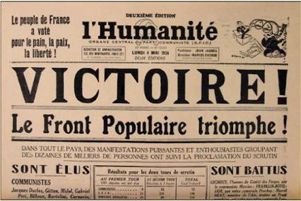 L'humanité du 04 mai 1936